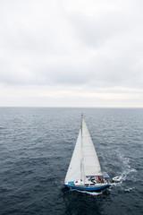 Sailing boat turning, Pula, Istria, Croatia