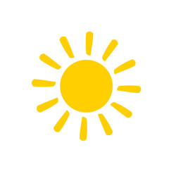 sun flat vector icon on white background