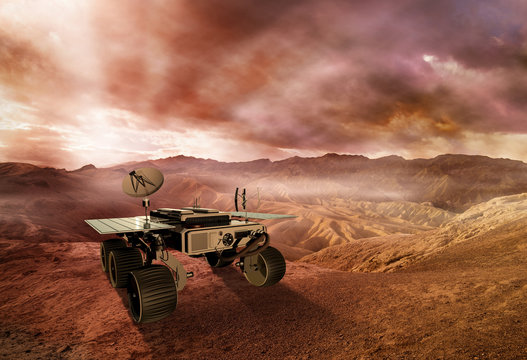mars rover exploring the red planet surface