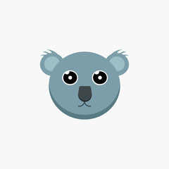 vector cartoon koala face