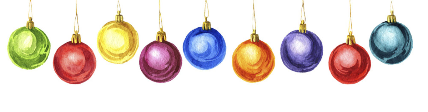 christmas balls, new year decoration