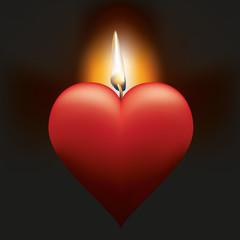 amour - cœur - aimer - flamme - amoureux - romantique - couple - concept - mariage
