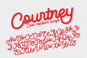 Courtney cool modern script font