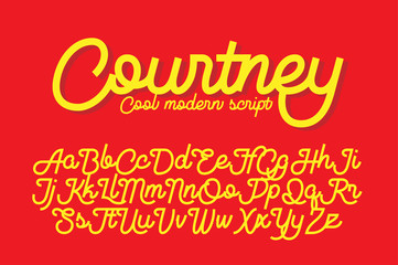 Courtney cool modern script font