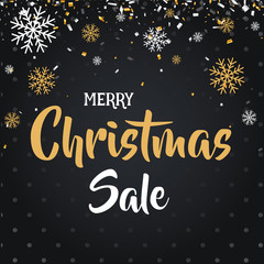 Christmas day and Happy New Year discount sale vector illustration banner.