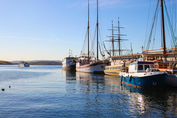 Harborfront in Oslo Norway
