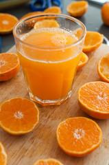 Freshly squeezed mandarin juice