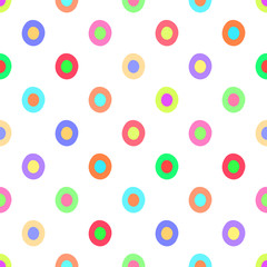 Seamless polka dots pattern vector background vintage retro abstract design colorful art with circle shapes