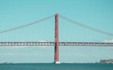 Bridge of 25th april in Lisbon.