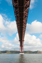 Under the Bridge of 25th april in Lisbon.