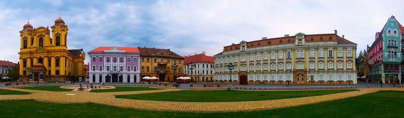 Panorama of Unirii Square, Timisoara