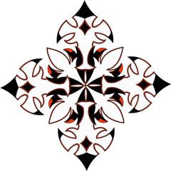 white tattoo floral mandala art