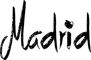 Madrid tets sign illustration