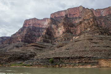 The rock layers of the West Rim in Arizona
