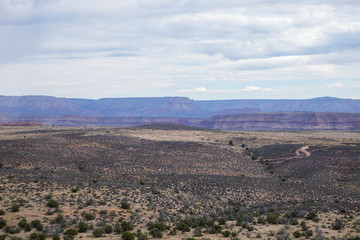 An aerial view of the West Rim in Arizona