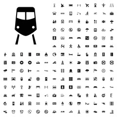 Train icon illustration. airport icons set for web and mobile.