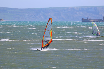 Windsurfers in Portland Harbour