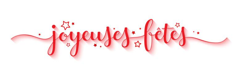 """Bannière """"JOYEUSES FETES"""""""