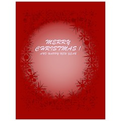 PrintMerry christmas and happy new year card greetings with red background and chrystal shape