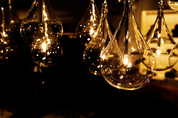 beautiful luxury lighting lamp interior decor.