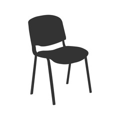 Chair icon vector illustration isolated on ligth blue background. EPS