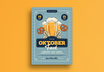 Illustrated Octoberfest Flyer Layout