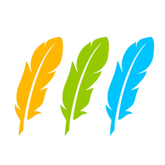 Color feather icon set