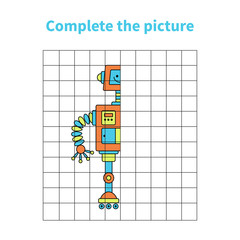 Complete the picture of robot.