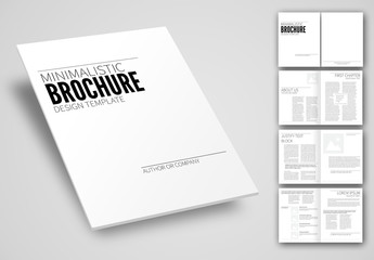 Minimalistic Brochure Layout