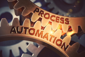 Process Automation on the Golden Cog Gears. 3D.