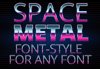 Space Metal Font Style