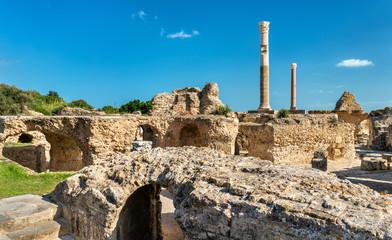 Keuken foto achterwand Tunesië Ruins of the Baths of Antoninus in Carthage, Tunisia.