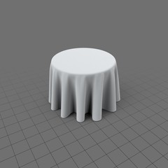 Round table with cloth