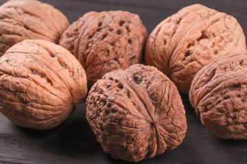 pattern of many walnuts
