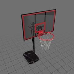 Basketball hoop on wheels