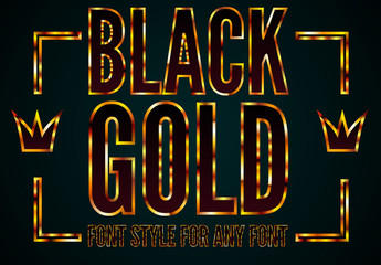 Black Gold Font Style