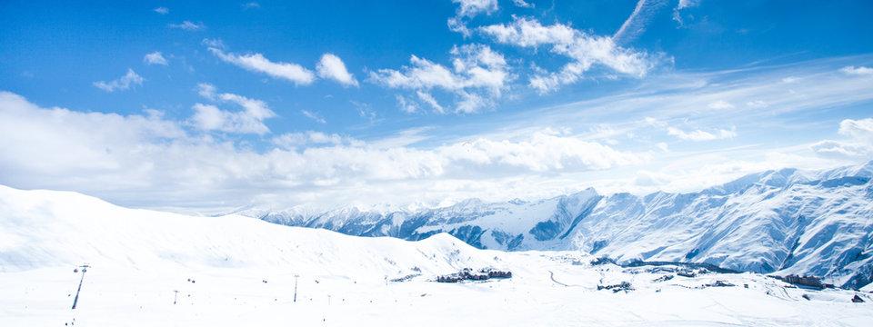 Landscape mountain winter.