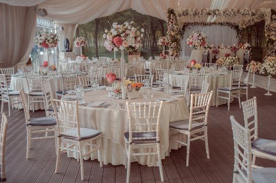 wedding tables decoration for a wedding