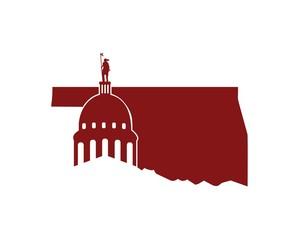 Oklahoma capital building vector
