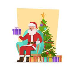 Santa Claus character vector design. no9