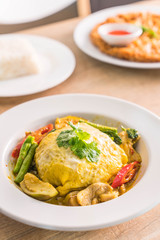 Green Curry With Chicken and wrap egg