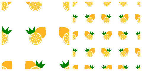 Melon or lime or orange seamless pattern on transparent background