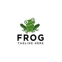 Stand fun frog logo