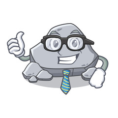 Businessman stone character cartoon style