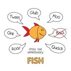 Cartoon Fish Kids Learning Game