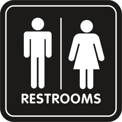 Restroom Sign rounded corners