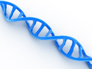 3d rendered dna in white background