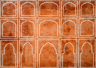 Beautiful pattern on palace wall in Jaipur,India