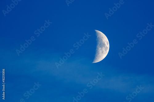 Fase de la luna en cuarto creciente. \