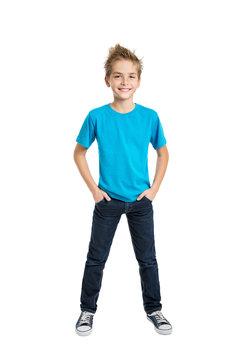 Portrait of happy joyful beautiful boy